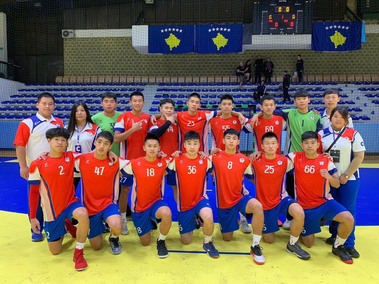 台灣手球代表參加 2019科索沃洲際挑戰賽