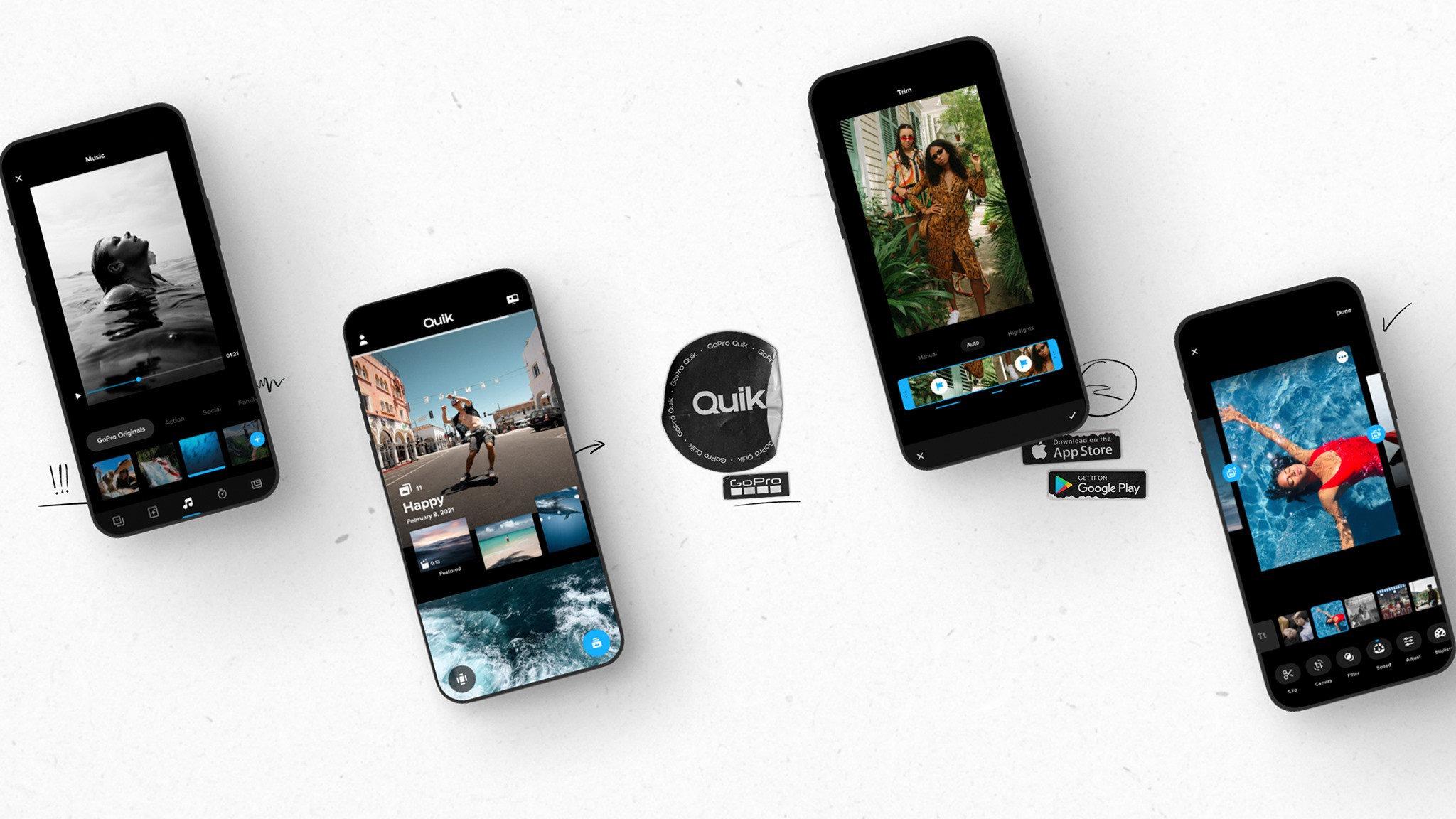 快速編輯照片和影片神器!GoPro新APP「Quik」更新版