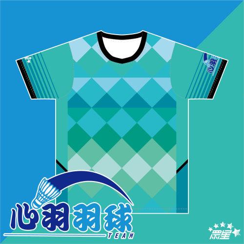 心羽全客製化熱昇華羽球服 x Unistar「牛奶絲」機能布料