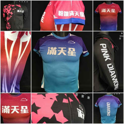 營養俱樂部:粉鑽滿天星再次加碼訂做客製化熱昇華運動服