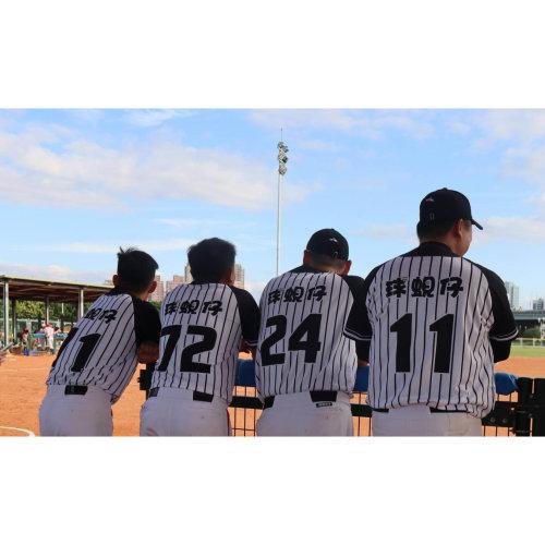 棒球服經典不敗條紋!棒球專用的蜂窩布質地舒適透氣、輕薄有彈性!