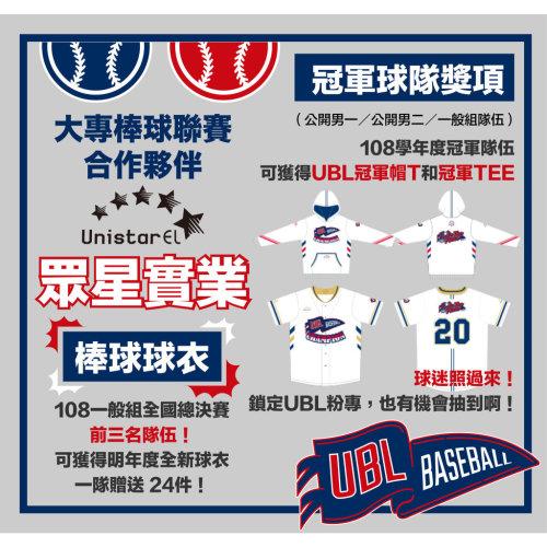 108UBL大專棒球運動聯賽
